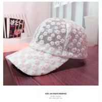 kanten madeliefje honkbal hoed chrysanthemum patroon piek pet zomer outdoor sunhat mode zonnebrandcrème partysu vrouwen hoeden KKB7086