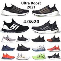 Yeni ultra boost 2021 erkek koşu ayakkabıları Güneş Sarı ultraboost 4.0 çekirdek üçlü siyah beyaz Gri erkek kadın eğitmenler spor ayakkabı 36-45