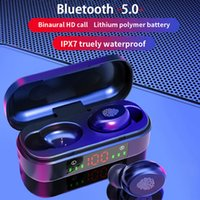 V8 TWS Wireless Headphone Bluetooth Earphones 5.0 9D Bass Stereo Waterproof Earbuds Bluetooth Headset with Mic and Charging Box