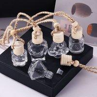 Автомобильные парфюмерные флакон стекло украшения сумки кулон 8 мл парфюмерные орнамент воздуха Освежитель эфирных масел аромат хранения GWB7771