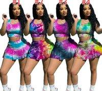 Donne Sport Tracksuits Designer Fashion T Shirt Shorts Shorts Yoga Abiti Estate Sexy Slim Girt Gonna Due pezzi Jogger Set Plus Size Donne Abbigliamento