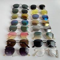 육각형 선글라스 운전 패션 빈티지 여성 남성 브랜드 디자이너 태양 안경 숙녀 UV 보호 안경