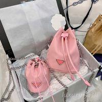 Последние 3 цветное холст ведро сумка для наплечной сумки 2021 летнее высокое качество цепь на стрижках женщин скрещенные сумки дизайнеры бренды роскошь леди мода кошелек оптом
