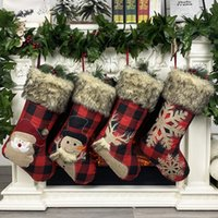 Santa Claus Storage Stockings Christmas Decorations Snowman Gift Large Socks Candy Gifts Bag Festive Party Supplies