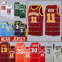NCAA Santa Clara Steve 11 Nash Jersey 3 ALLEN HOYAS IVERSON TEXAS 35 KEVIN LONGHORNS JAMES DURANT LEBRON Баскетбол