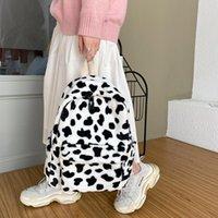 Backpack Vintage Design Women Shoulder Bag Fashionable Ladies Bags Female Handbags Cool Girls Tote Original Plush Handbangs