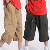Men's Pants Summer Casual Shorts Men Cotton Cargo With Big Pocket Loose Baggy Hip Hop Male Clothing Plus Size 48 50