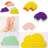 어린이 감각식 Fidget 장난감 푸시 버블 보드 게임 자동차 구름 모양 감압 장난감 자폐증 어린이를위한 특별 요구 G31904