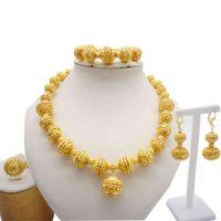 Ketting S Voor Vrouwen Dubai Afrikaanse Gouden Sieraden Bruid Oorbellen Ringen Indische Nigeriaanse bruiloft Sieraden Set Gift