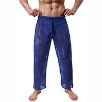 Men's Thermal Underwear Mens Long Johns Hollow Out Pajama Pants Casual Sport Fitness Sweatpants Trousers Loose Breathable Sleep Bottoms