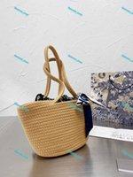 Mujeres Diseñadores Bolsa de asas Lujos Crossbody Handbags Wicker Mano tejido Paja Paja Moda 2021 Bolsas de cesta Alta Calidad al Por Mayor