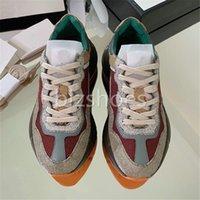 Rhyton кроссовки винтаж чувствуют женские туфли негабаритные холст светоотражающие отделки дизайнерские кроссовки мини-жаккардовые ткани коренастые подошвы повседневная обувь