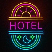 HOTEL Sign Fashion Beautiful Home KTV Bar xmas gift Wall Decoration Handmade Neon Light 12 V Super Bright