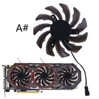 팬 냉각 1 / 3pcs 75mm 2 / 3pin T128010SU 그래픽 비디오 카드 냉각 팬 Gigabyte GTX970