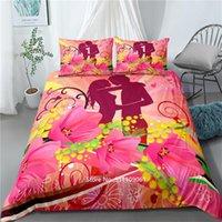 Set di biancheria da letto 2-3 pezzi stile nordico stile ragazza rosa fata set morbido copriletto per ragazze stanza confortevole custodia da letto custodia custodia federa