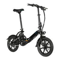 14 인치 미니 전기 자전거 36V 250W 2 바퀴 전기 자전거 Fiido D3Pro 장거리 60km 전기 자전거 여성 ebike
