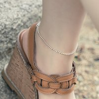bracelet Anklet S925 Sier versatile bead naked chain pure Chain simple couple
