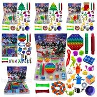 Aktie! 24 teile / set Weihnachtsfidget Spielzeug Weihnachten Countdown Kalender Bluterboxen Sensory Pack 5 Arten Adventskalender Weihnachtskiste Zza3433