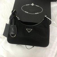 Frauen Marke Luxus Designs Handtaschen Nylon Crossbody Bag Hobo Geldbörsen Baguette Paket Triad Taschen Kommen Sie mit Box