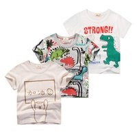 Inpepnow Niños Camiseta para niños 2020 Impresión animal Dinosaur Boys T Shirt para chicas Tops Dibujos animados Niños Tshirt Ropa 5-14 YRS 1163 Y2