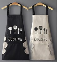 Hand-wiping kitchen Household Cooking Apron Men Women Oil-proof Waterproof Adult Waist Fashion Coffee Overalls Wipe Hand Apron