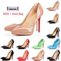 Kırmızı Bottoms Lüks Tasarımcı Yani Kate Stiller Yüksek Topuklar Yuvarlak Sivri Toes Kadınlar Gelinlik Ayakkabıları 35-42 8cm 10cm 12cm pompaları