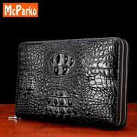 Wallets Luxury Men Clutch Bags Genuine Leather Card Holder Wallet Cowhide For Fashion Crocodile Alligator Design Black