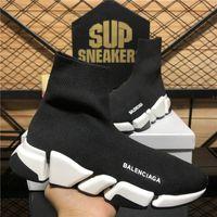 Top Quality Balenciaga Sapatos Speed Trainers Homens Mulheres Designers Casual Triple S Knit Sock Branco Preto Caqui Melerna Mens Mens Mens Soft Platform Treinador Sapatilhas