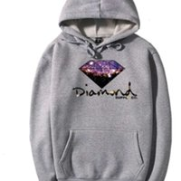 Mode Diamantversorgung Co Print Männer Dicke Hut Hoodies Frauen Casual Pullover Paar Herbst Winter Sweatshirt Langarm Tops