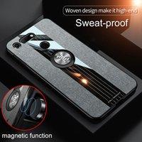 Lüks Kumaş Telefon Kılıfı Için Huawei Onur V10 V20 Görünüm 20 Görüntüle 10 Görüntüle Manyetik Parmak Yüzük Standı Bez Ince Arka Kapak Hücre Kocası