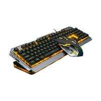 Cool Couleur jaune LED Backlit USB Gaming Ergonomic Mechanical Main Main Sensat Souris Mouse Mouse Combos