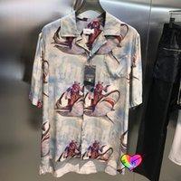 셔츠 2022 남성 여성 1 고품질 전체 카우보이 인쇄 셔츠 여름 대형 블라우스