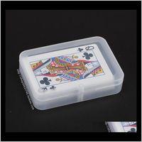 Bins Transparent Playing Cards Plastic Box Pp Storage Boxes Packing Case Width Less Than 6Cm Wen5065 5Vaqq M8Wv9