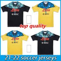 2021 2022 Napoli Soccer Jerseys Maradona Maglietta Da Calciatore Osimhen Insigne 21 22 SSC نابولي Kits Maglia Merstens Men Football Commet