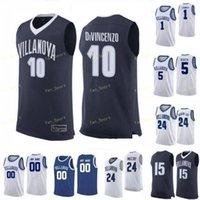 NCAA College Villanova Wildcats Basketball Jersey 30 Daniel Akin 35 Matt Kennedy 4 Chris Arcidiacoono 4 Eric Paschall 사용자 정의 스티치