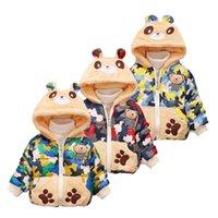 طفل أطفال معاطف سميكة القطن الطفل الأولاد جاكيتات الأطفال الفتيات مقنعين سترة الكرتون الدب قميص الشتاء الدافئ الطفل الملابس 3 تصميم DW4494