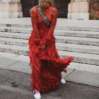 Zanzea 2021 Real Full A-line Vestidos Mujer Summer Dress Ukraine Retro Elegant Wave Point Heavy Long Sleeve Stitching Woman Casual Dresses