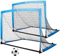 AMZDeal-tragbares Fußballtor, Kinder-Trainingsziele Netz für Hinterhof, Set von 2 mit Tragetaschen, 4 * 3ft
