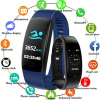Chenxi New Smart Armband Armband Männer Farbbildschirm Smart Uhren Männliche digitale Smart Armbanduhren F64 Bluetooth für iOS Android Q0524
