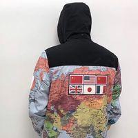 Moda para hombre Chaquetas Ropa Mujeres Diseñador Mapa Mapa Mapa Reflectante Chaqueta Hombres Ropa de abrigo de invierno Tamaño Asiático M-XXL