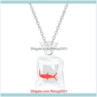Pendant Necklaces & Pendants Jewelrykawaii Cartoon Resin Goldfish Imitation Bag Shape Charms Funny Cute Transparent Water Pouch Necklace Jew