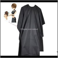 Aprons Textiles Home & Gardenblack Waterproof Adult Hairdressing Cape Children Hair Cutting Apron Prevent Dyeing Manteau Gown Barber Styling