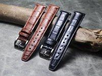 Banda de reloj Banda hecha a mano Patrón de bambú Patrón de cuero genuino 20mm 21mm 22mm Pulsera de cocodrilo Retro pulsera