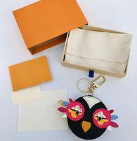 2021 تصميم الطيور الحلي الفاخرة محفظة قلادة أكياس سلاسل مفتاح مشبك المفاتيح إلكتروني أعلى جودة المرأة حقيبة الملحقات مع مربع