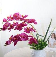 10 pz / lotto Lifelike Artificiale Farfalla Orchid Fiore Seta Phalaenopsis Casa di nozze Decorazione FAI DA TE Fiori finti 1464 V2