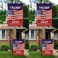 2024 Трамп Генеральные избирательные знаки Флаги Президентская кампания США для садового флага Сделайте Америку Снова Баннеры 30 * 45см 3 49CDA Q2