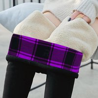 Women's Leggings 2021 Autumn Winter Keep Warm Solid For Women High Waist Thick Velvet Super Elastic R5