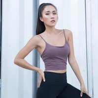 Gym Clothing Sexy Backless Sport Bra Top Women Vest-type Jogger Dance Yoga With Removable Pads Workout Female Fitness Cropped Tanks