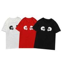 Модная мужская футболка лето с коротким рукавом топ 3d скрещенныебоны печатные тройники мужчины женские пары пальмы пальмы ангелы повседневная одежда размер S-XXL