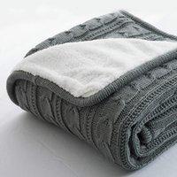 Decken 2021 plus samt dicke gestrickte decke hochwertige winter warm wolle sofa / bett abdeckung quilt leer